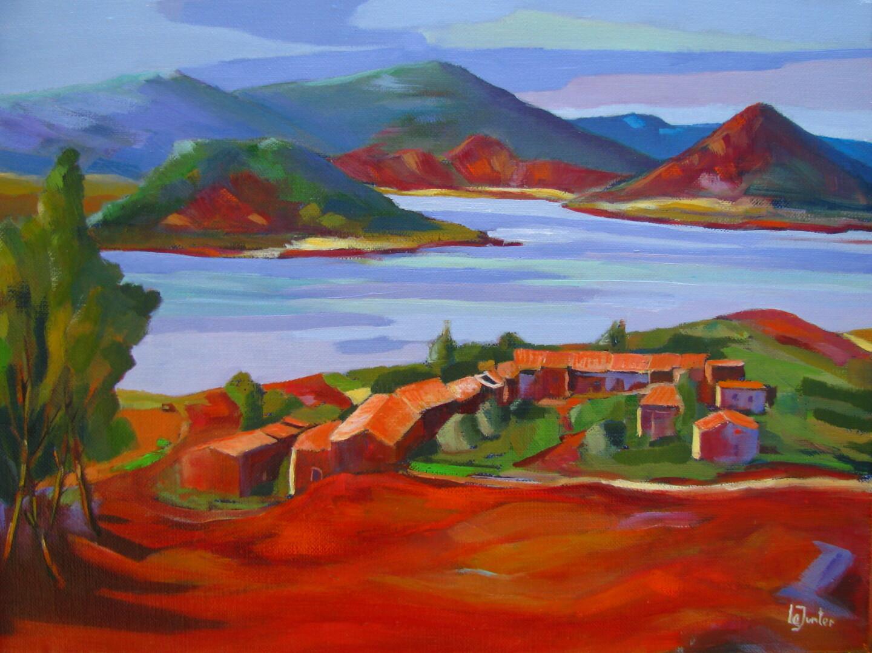 Jean-Noël Le Junter - Les Vailhés et le lac du Salagou