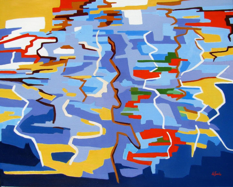 Jean-Noël Le Junter - Reflets dans le port n°1