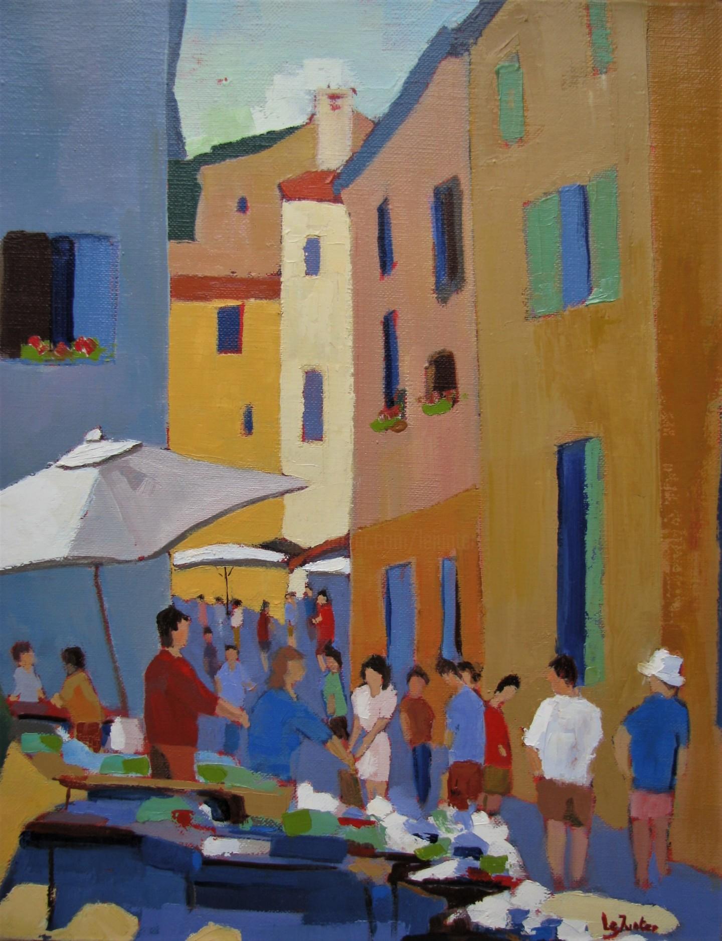 Jean-Noël Le Junter - Le marché de Saint-Rémy
