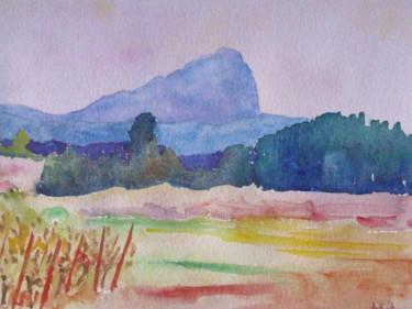 Coucher de soleil derrière le Pic Saint-Loup 2