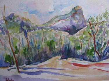 Le Pic Saint-Loup entre  St-Mathieu et Valflaunès