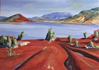 Paysage du bord du Lac du Salagou
