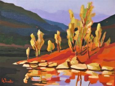 Après-midi d'automne au Salagou, paysage