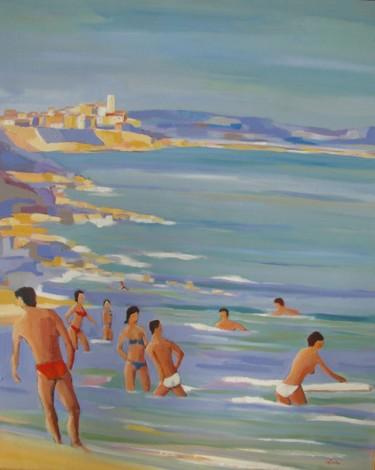 Baigneurs à Antibes