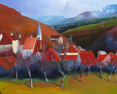 Lods , vallée de la Loue en automne
