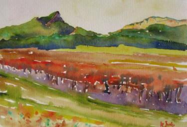 Le Pic Saint-Loup et l'Hortus en automne 30X40