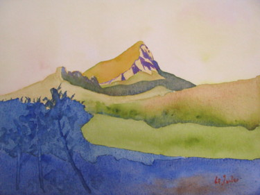 Lever de soleil sur le Pic Saint-Loup